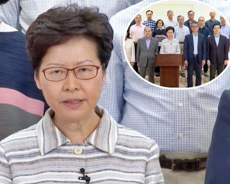 林鄭月娥發表電視談話,指10月4日晚是「非常難過的一夜」。影片截圖