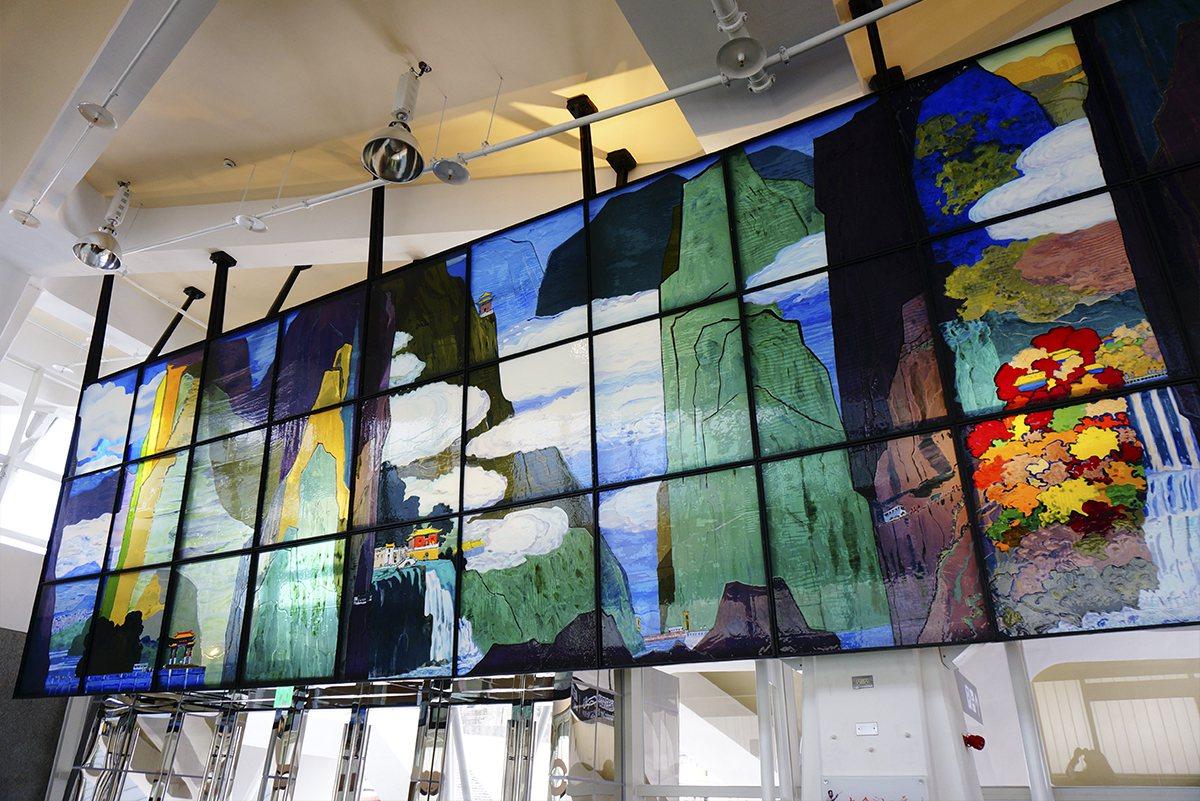 花蓮公共藝術票選第二名,陳彥君作品「太魯閣之美」。圖/文化局提供