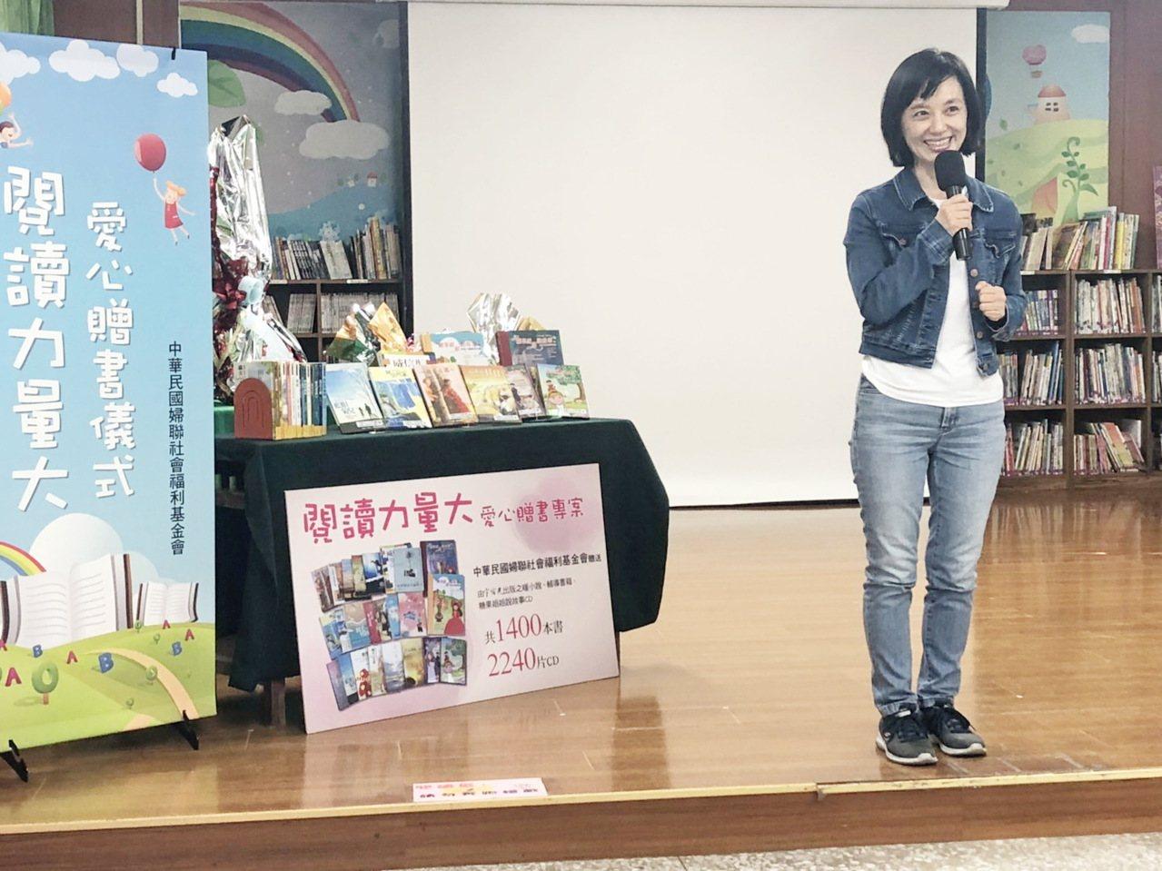 台東縣前縣長黃健庭夫人陳怜燕期待藉閱讀激發孩子的潛力。記者羅紹平/攝影