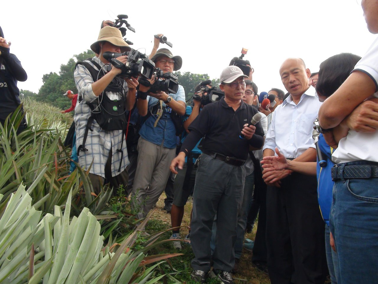 高雄市長韓國瑜今天下午巡看高雄轄下大樹,了解果品外銷情形。記者謝梅芬/攝影