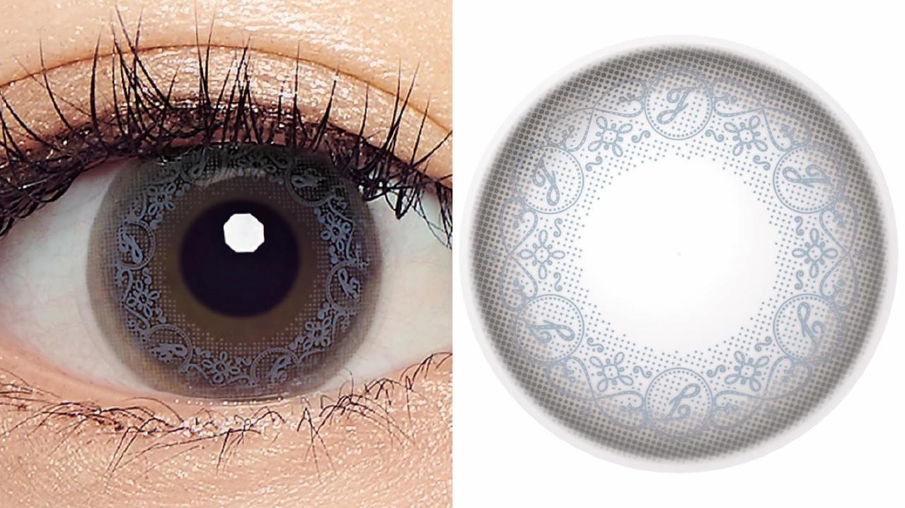 日本隱形眼鏡品牌Seed推出具有花紋圖案的角膜變色片。(圖/取自網路)