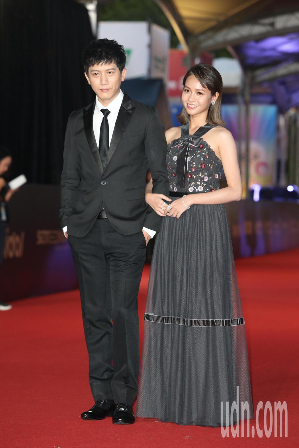 莫子儀(左)、黃姵嘉走星光大道。記者陳立凱/攝影