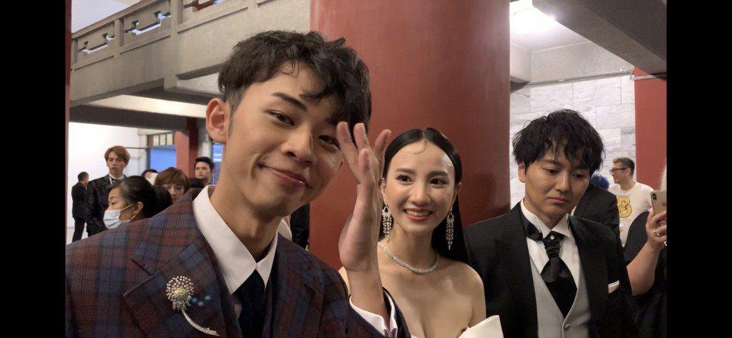 吳政迪(左起)、張寗、蔭山征彥以客台「日據時代的十種生存法則」入圍金鐘獎戲劇節目