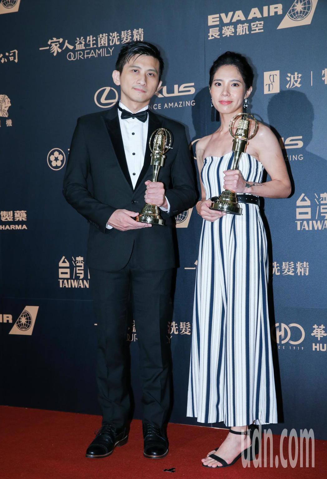 第54屆電視金鐘獎音效獎由公視新創短片最後一次溫柔團隊高偉晏(左)、張邵庭、嚴唯