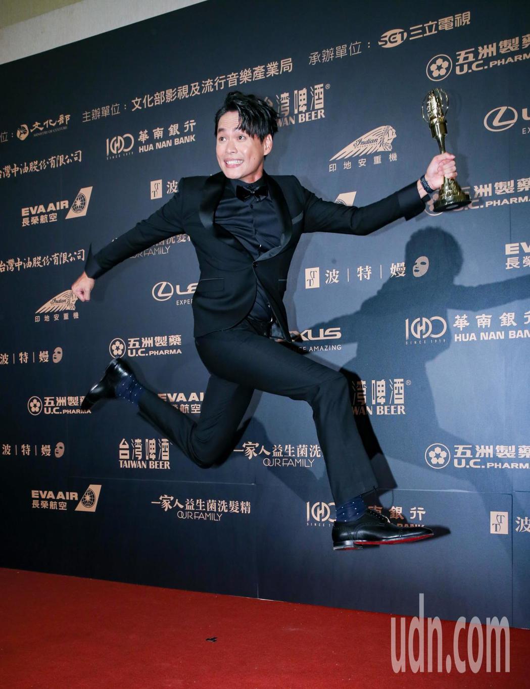 第54屆電視金鐘獎迷你劇集電視電影男配角獎由黃鐙輝以奇蹟的女兒獲得。記者許正宏/...