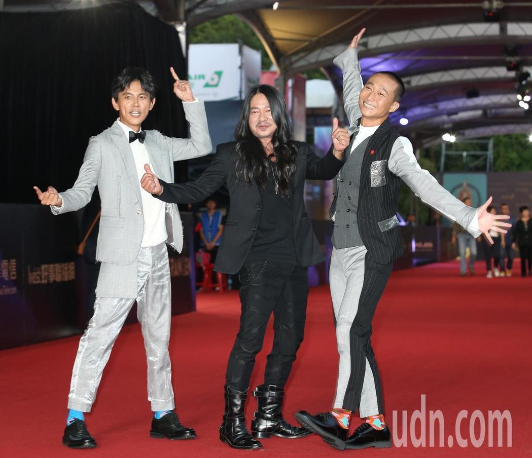 阿翔(左起)、乱彈阿翔(中)及浩子。記者陳立凱/攝影