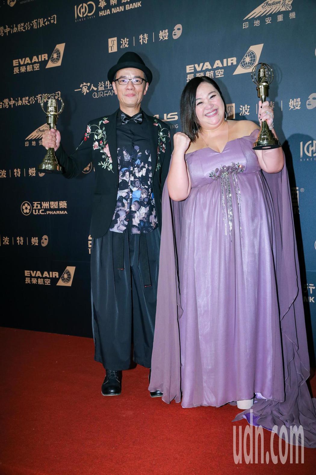 第54屆電視金鐘獎電視電影迷你劇集女主角獎由鍾欣凌(右)以你的孩子不是你的孩子-...