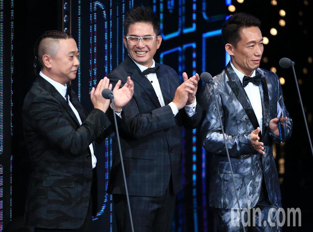 邰智源(左)、郭子乾(右)、洪都拉斯(中)擔任頒獎嘉賓。記者林伯東/攝影
