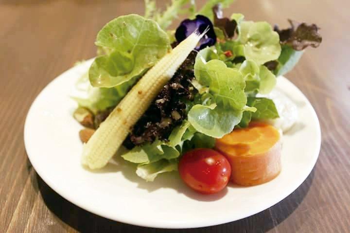 蔬食料理的擺盤藝術,賞心悅目。 圖╱毒瓊珍提供