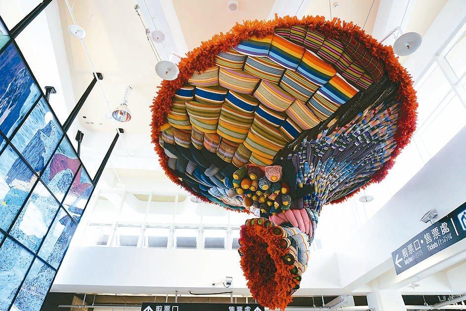 花蓮公共藝術票選第一名,林介文作品「織路」。 圖/文化局提供