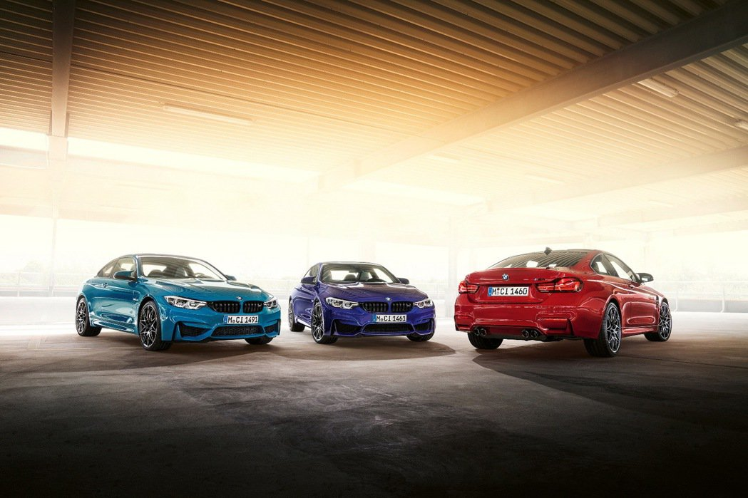 BMW M4 Edition ///M Heritage採用M Logo藍紫紅三...