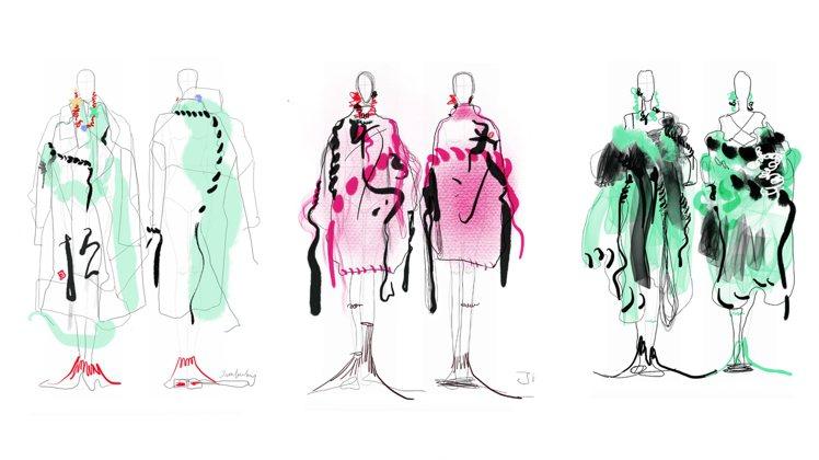 讀衣IV參與服裝設計師設計圖稿 - 黃薇。圖/團團提供