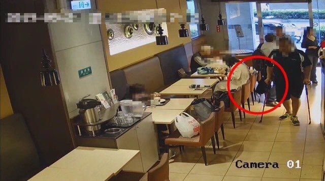 兩名秘魯籍嫌犯在台北市行竊,被警方查獲。圖/記者廖炳棋翻攝