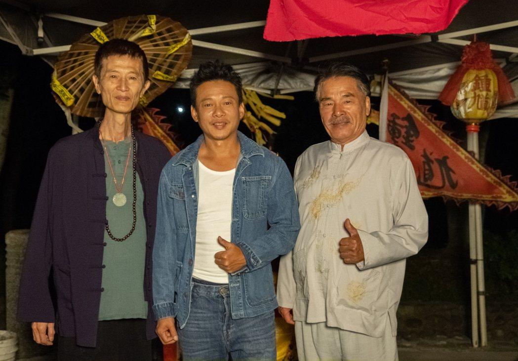 左起陳博正、李康生、雷洪拍攝「粽邪2」遇到不少靈異事件。圖/華影國際提供