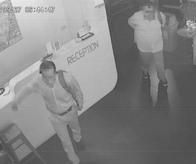 兩名秘魯籍嫌犯在台北市行竊,被警方查獲。記者廖炳棋/翻攝