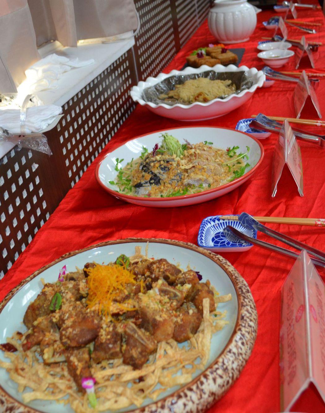 台灣畜產食材烹煮出精彩料理,讓人食指大動。  陳慧明 攝影