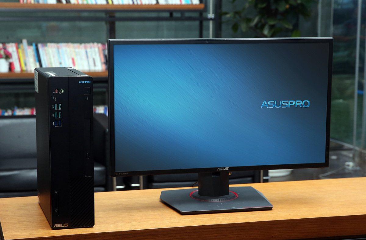 華碩商用桌機ASUSPRO D641SC功能強悍且精巧耐用,更具有完整I/O連接...