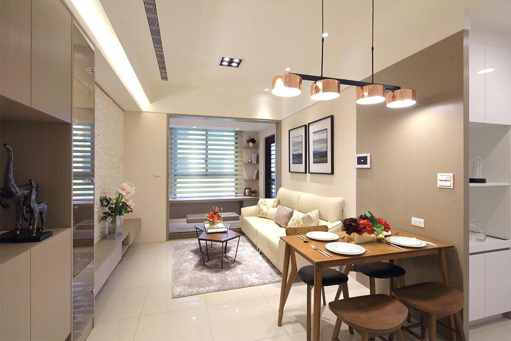 麗寶快樂星球28-31坪,室內高度3米58寬敞、通透,住戶擁有充足收納空間。 圖...