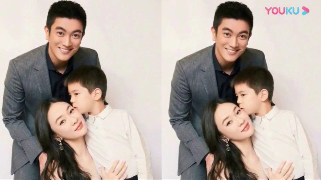 爸媽杜江、霍思燕顏值都高,嗯哼也越來越帥氣。圖/擷自微博