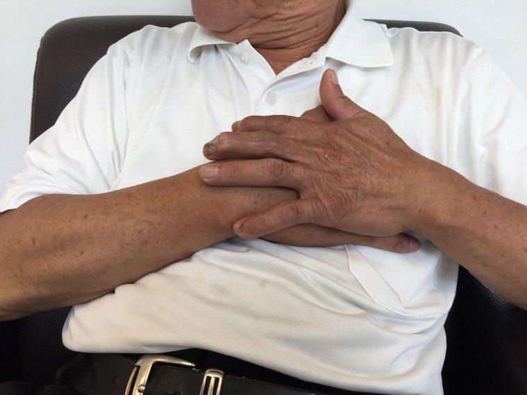 心梗示意圖。圖/長安醫院提供