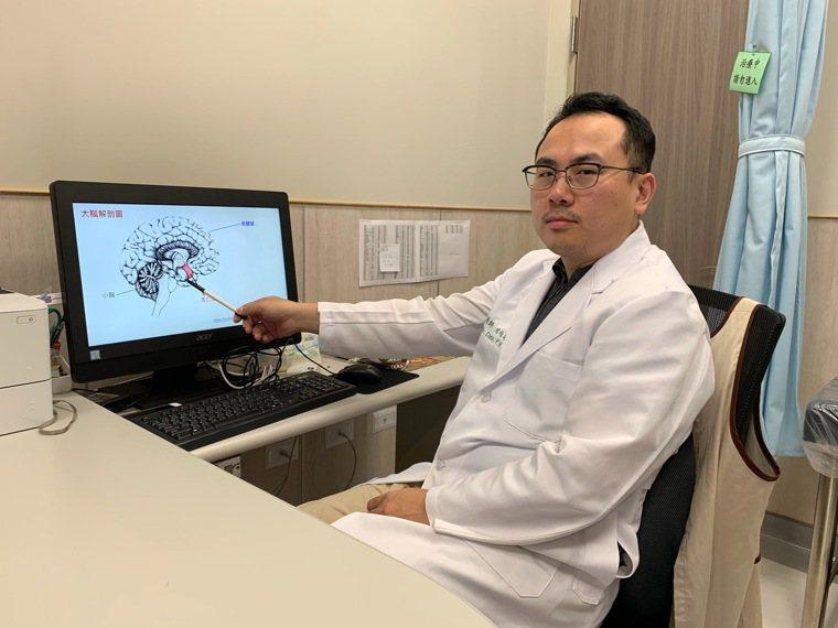 中國醫藥大學新竹附設醫院身心科醫師周伯翰說,該名患者交感神經活性過高,因此判斷是...