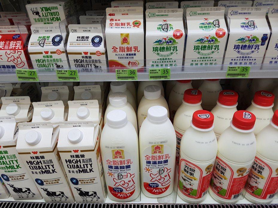 一名日配司機無奈表示,牛奶是日配,每天都會進貨也一定都很新鮮,當民眾看到有日期是放比較久的,都是因為大家一直翻後面的拿。示意圖。記者楊雅棠/攝影