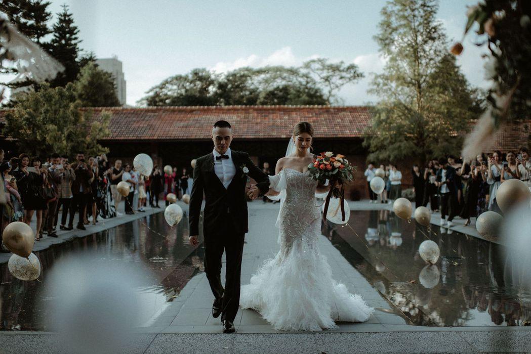 林珈安(右)跟老公Freddy舉辦婚宴。圖/凹凹凸凸娛樂、good day提供