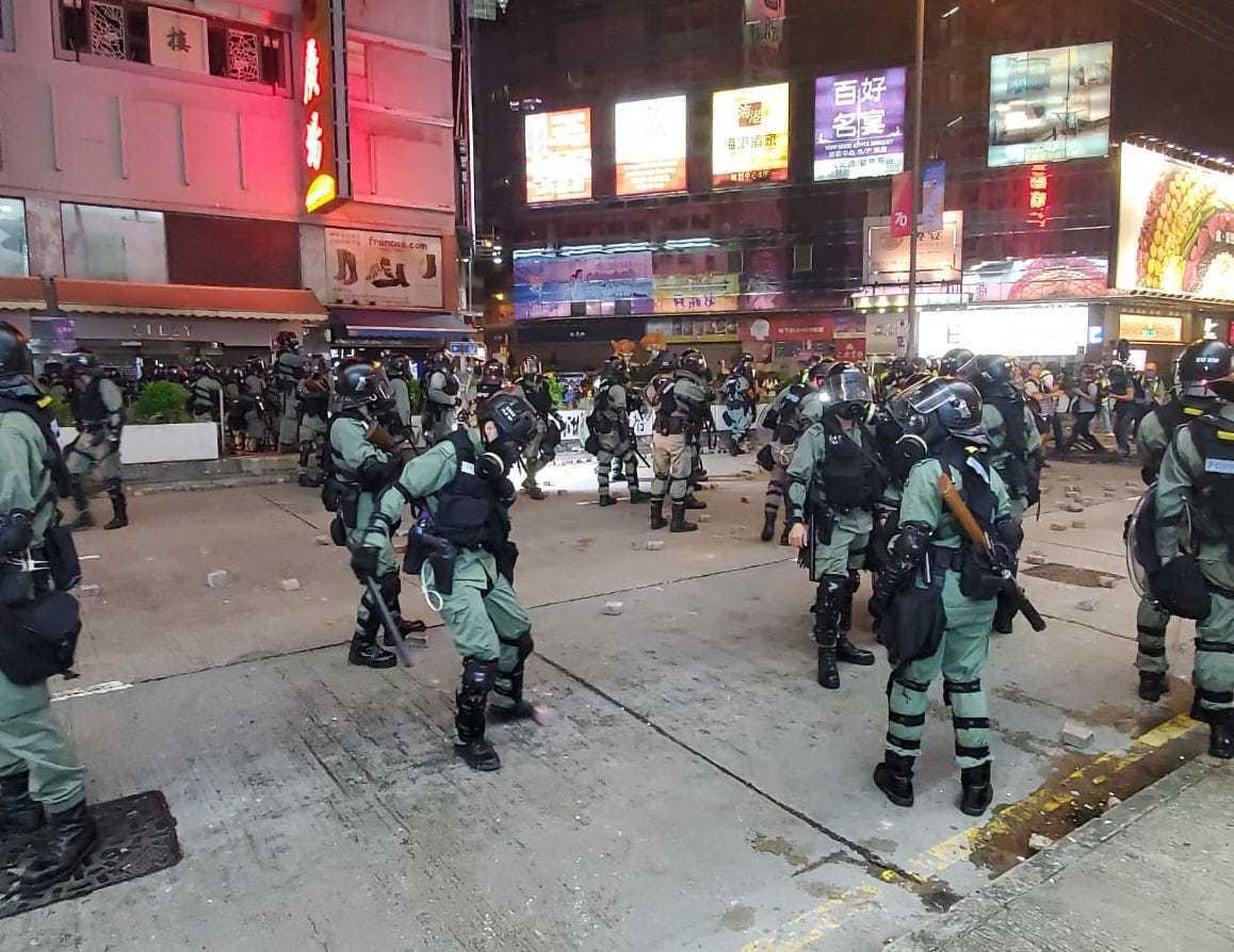 香港反送中運動持續。圖/取自星島日報