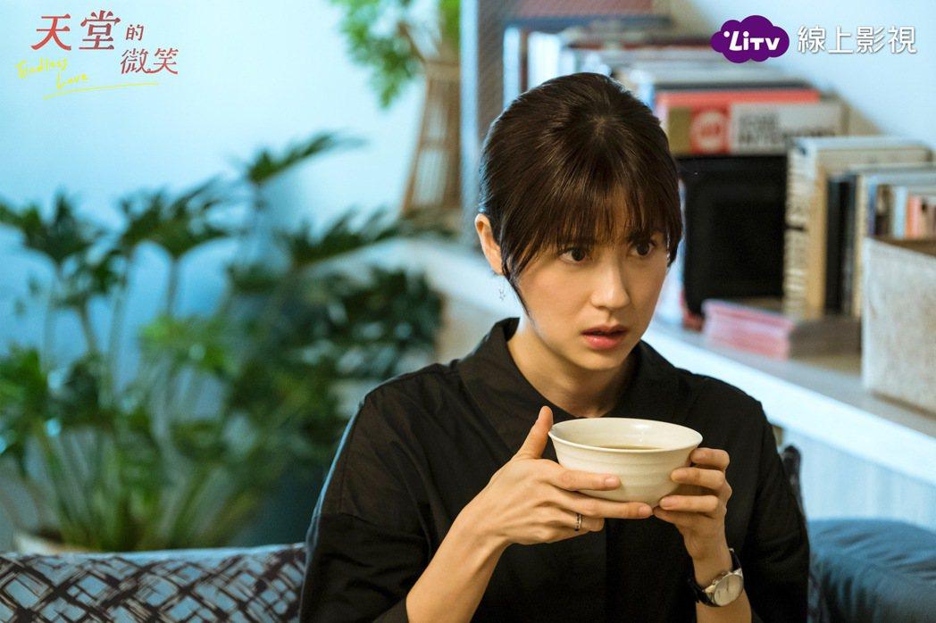 林予晞在「天堂的微笑」中飾演癌症孕婦。圖/LiTV、TVBS提供