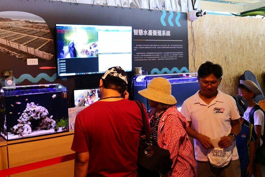 邁仕智聯於2019桃園農業博覽會「魚的新世界」展館,展出「石斑魚智慧養殖系統」。...