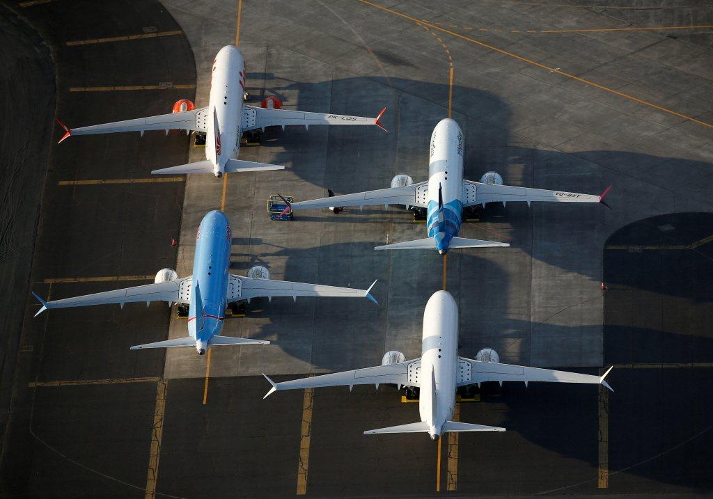圖為波音737 MAX機型客機。路透