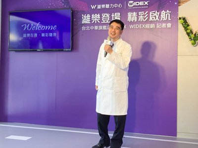 台北榮民總醫院耳鼻喉部耳科主治醫師廖文輝。 黃啟銘/攝影。