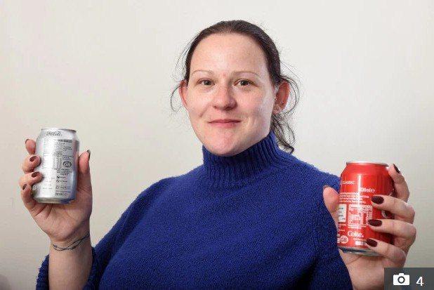 英國一名婦人珀金斯,對代糖嚴重過敏,必須避開含有代糖的飲食。 圖擷自太陽報