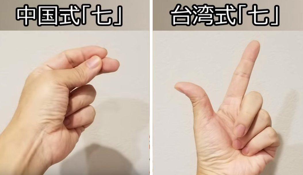 Junkoma精闢分析出陸台兩方旅客的不同,例如比七的手勢就是其中一例。圖擷自Y...