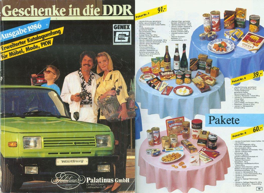 圖為東德國企「GENEX」的物資包裹目錄。東德民眾在「西方世界」的親友,可以透過...