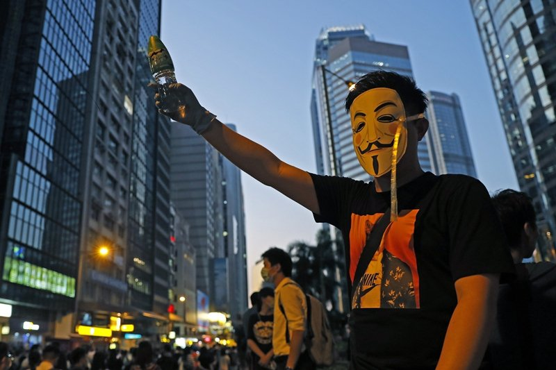 攝於10月4日,香港。 圖/美聯社