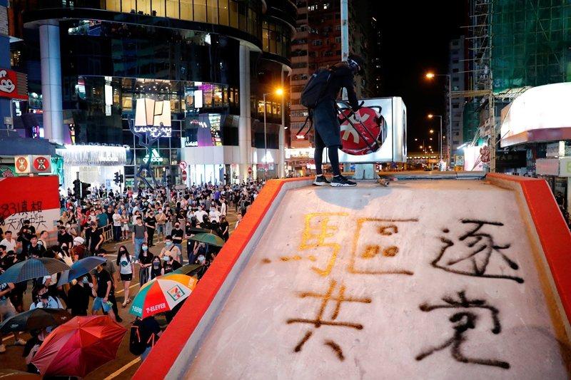 攝於10月4日,香港。 圖/路透社
