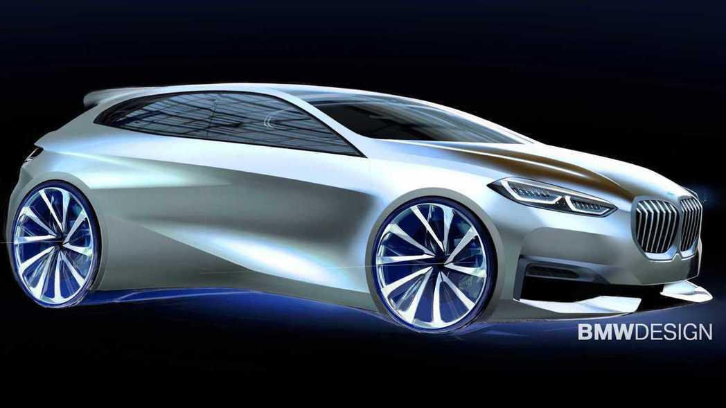 BMW目前正在開發純電版1 Series。圖為新世代1 Series的設計草圖。...