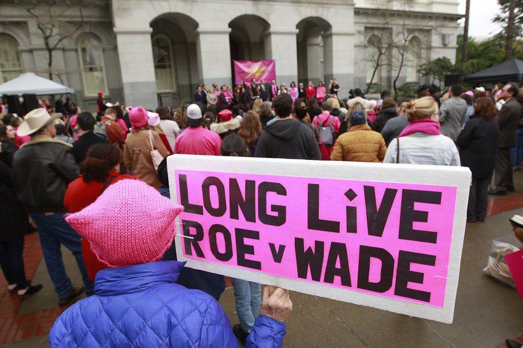 2018年1月22日,「Roe vs. Wade案」45週年。 圖/美聯社