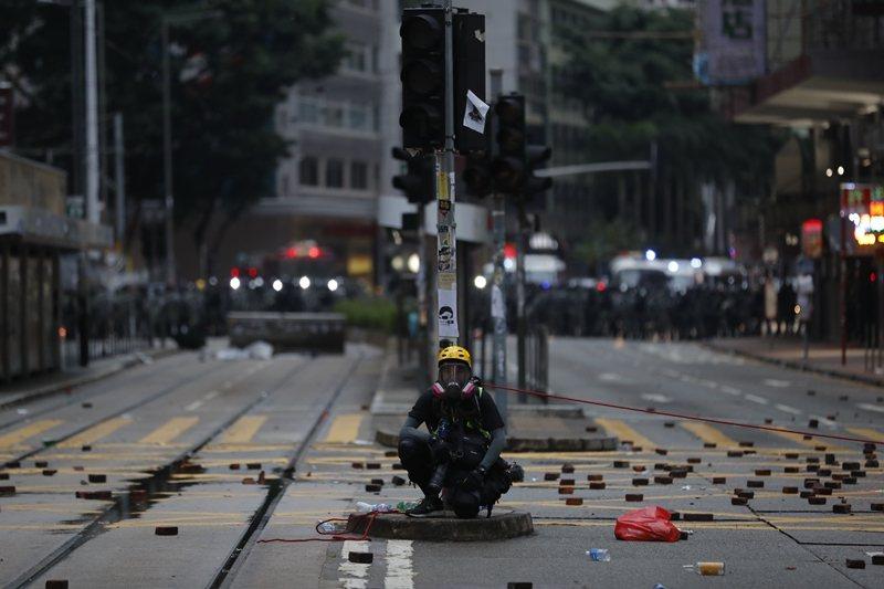 攝於10月6日,香港。 圖/美聯社