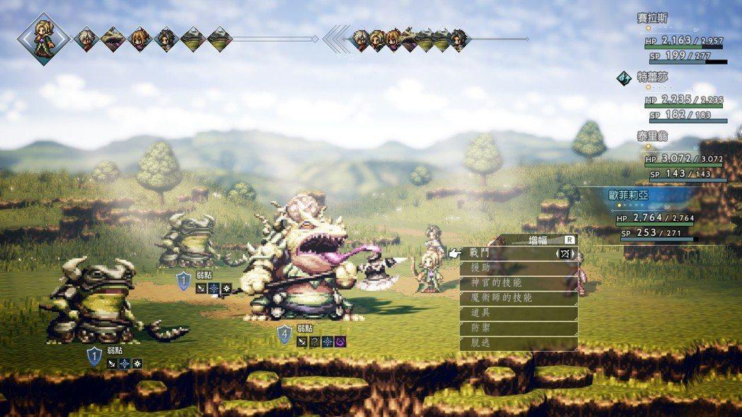 藉由破防和增幅點數的設計,《歧路旅人》讓玩家在戰鬥中思慮。pic via 作者