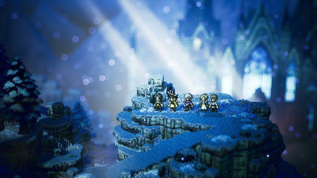 《歧路旅人》證明了點陣風格也能有美麗的光影場。 pic via 作者