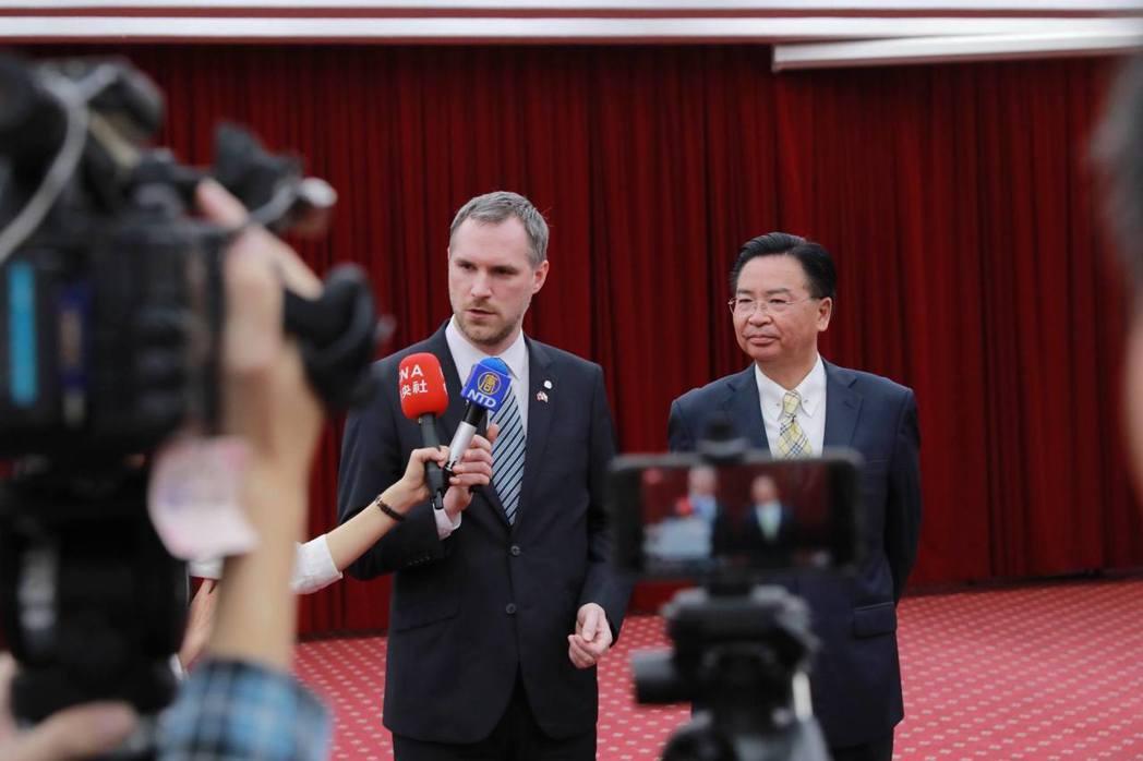 今年3月,賀瑞普訪台,並與我外交部長吳釗燮會面。 圖/取自賀瑞普官方臉書