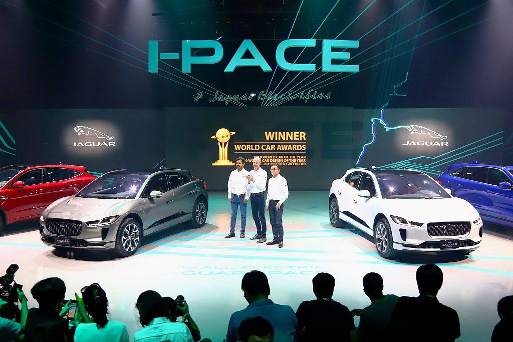 Jaguar品牌首款純電跨界跑車I-Pace,正式登台開賣。 記者張振群/攝影