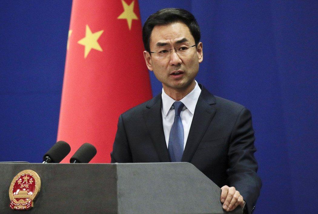中國外交部發言人耿爽。美聯社