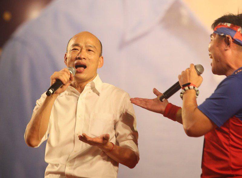 韓國瑜曾向藍營市議員表示,訪美的時間落在11月第2周。攝影/柯承惠