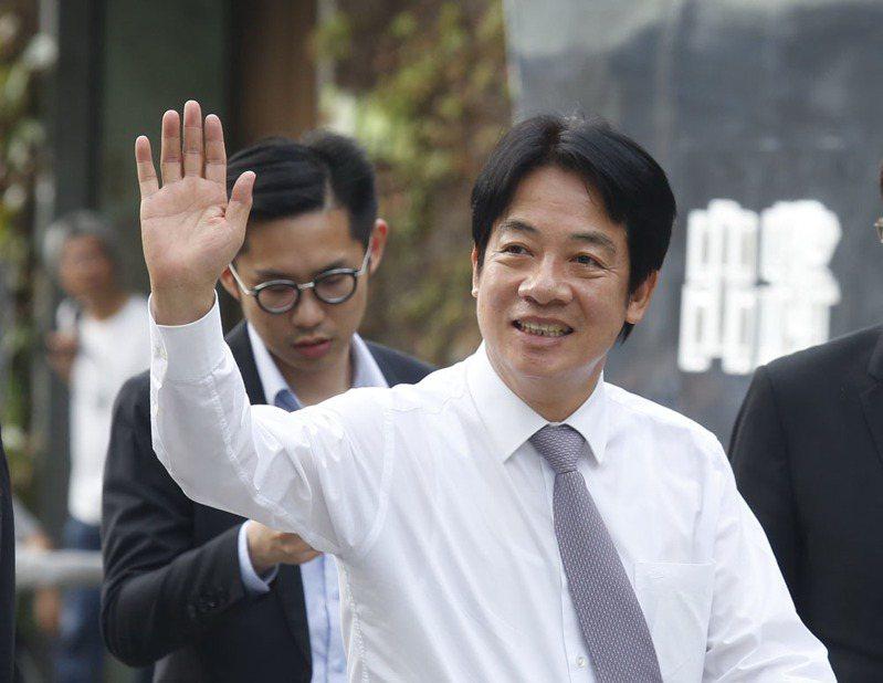 前行政院長賴清德10月14日將代表蔡英文赴美與僑界對話。攝影/郭晉瑋