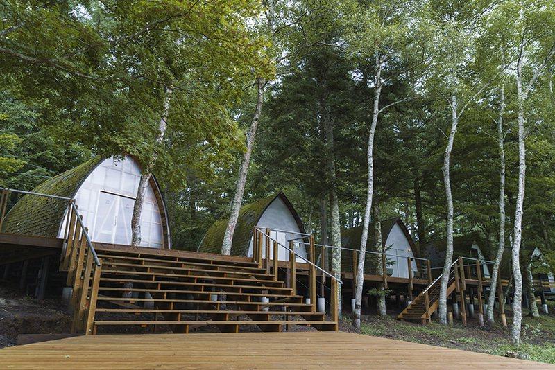 以小木屋形式散落於林間的25棟CABIN,能與大自然近距離接觸。