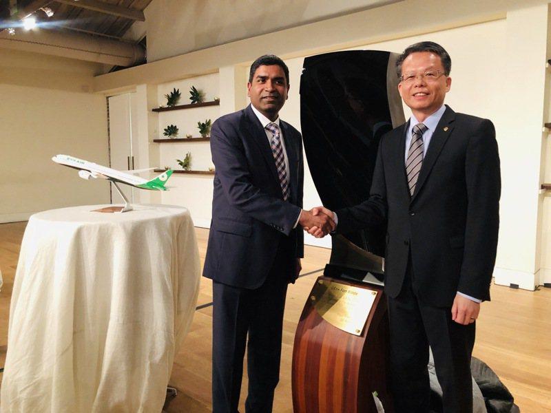 長榮航空第四架波音787-10交機晚宴。記者曹悅華/攝影