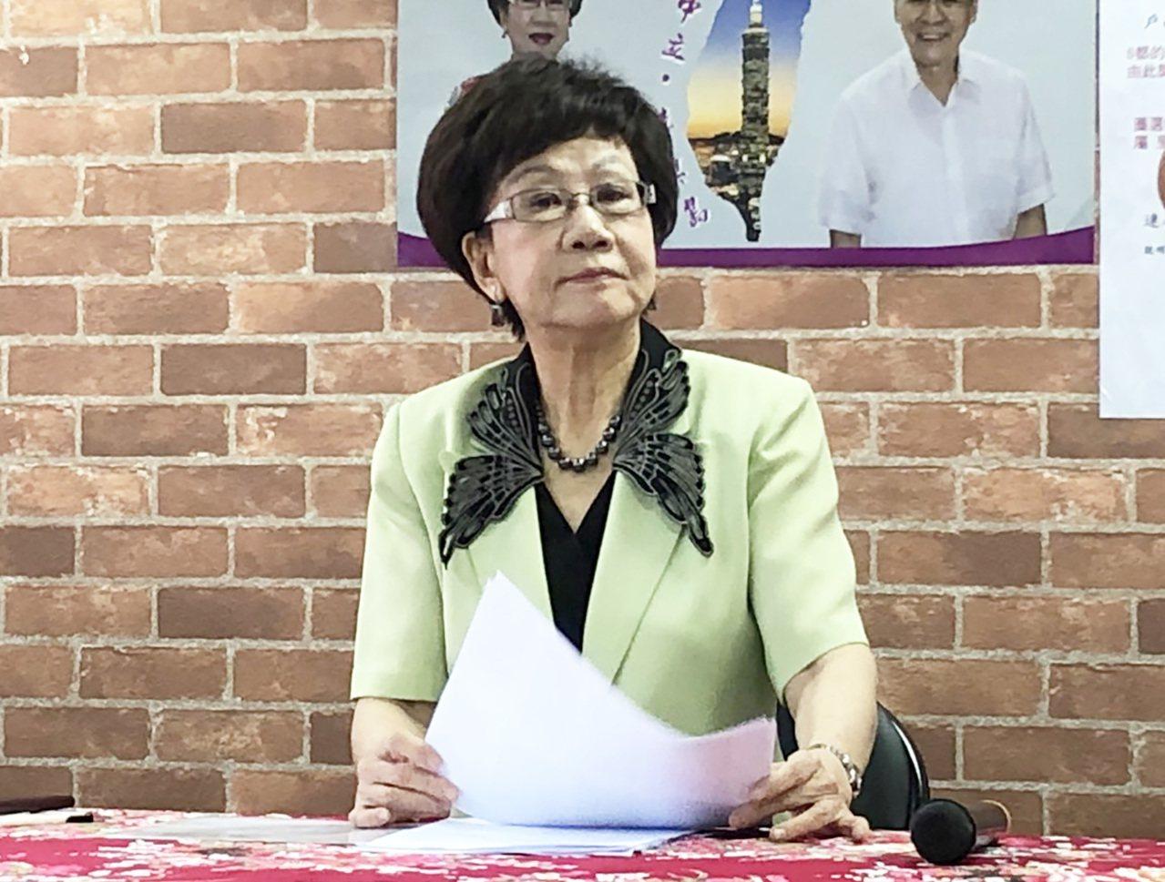 前副總統呂秀蓮今舉行記者會,控訴中選會要求不合理。記者潘姣琪/攝影